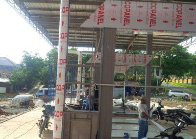 Pemasangan canopy baja IWF